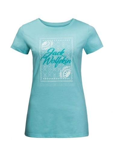 Jack Wolfskin Sea Breeze Tee Kadın T-Shirt - 1806601-4010 Turkuaz